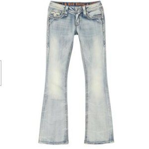 Rock Revival Faded Bootcut Jeans in Acid Blue NEW!